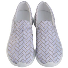 Brick2 White Marble & Sand (r) Men s Lightweight Slip Ons by trendistuff