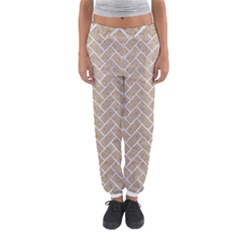 Brick2 White Marble & Sand Women s Jogger Sweatpants