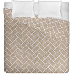 Brick2 White Marble & Sand Duvet Cover Double Side (king Size)
