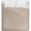 BRICK2 WHITE MARBLE & SAND Duvet Cover Double Side (King Size) View1
