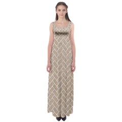 Brick2 White Marble & Sand Empire Waist Maxi Dress