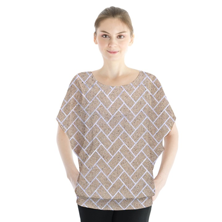 BRICK2 WHITE MARBLE & SAND Blouse