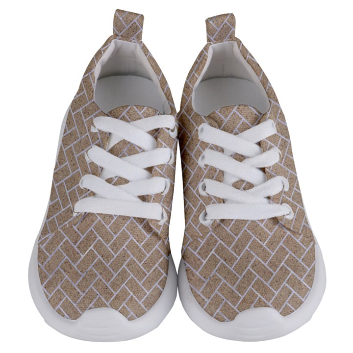 BRICK2 WHITE MARBLE & SAND Kids  Lightweight Sports Shoes