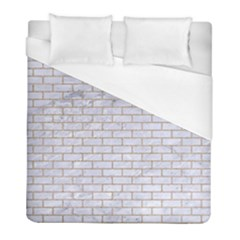 Brick1 White Marble & Sand (r) Duvet Cover (full/ Double Size) by trendistuff
