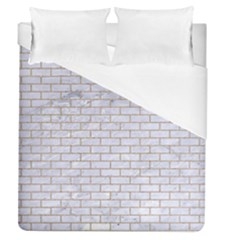 Brick1 White Marble & Sand (r) Duvet Cover (queen Size) by trendistuff