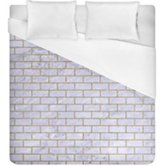 Brick1 White Marble & Sand (r) Duvet Cover (king Size) by trendistuff