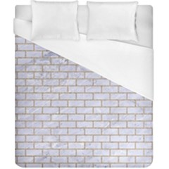 Brick1 White Marble & Sand (r) Duvet Cover (california King Size) by trendistuff