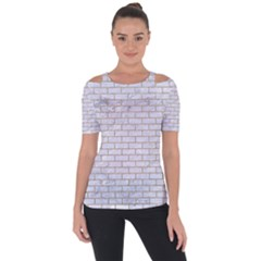 Brick1 White Marble & Sand (r) Short Sleeve Top by trendistuff