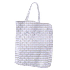 Brick1 White Marble & Sand (r) Giant Grocery Zipper Tote by trendistuff