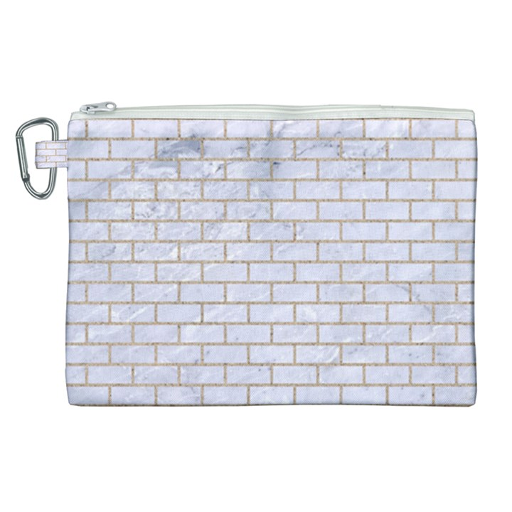 BRICK1 WHITE MARBLE & SAND (R) Canvas Cosmetic Bag (XL)