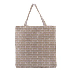 Brick1 White Marble & Sand Grocery Tote Bag by trendistuff