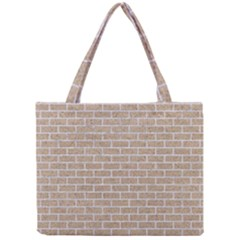 Brick1 White Marble & Sand Mini Tote Bag by trendistuff