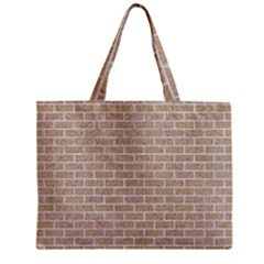 Brick1 White Marble & Sand Zipper Mini Tote Bag by trendistuff