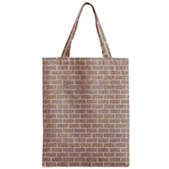 Brick1 White Marble & Sand Zipper Classic Tote Bag by trendistuff