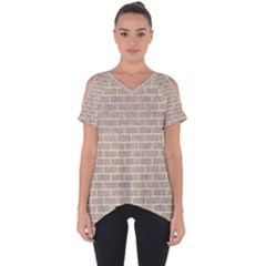 Brick1 White Marble & Sand Cut Out Side Drop Tee by trendistuff