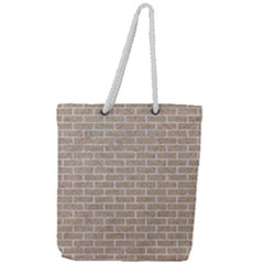 Brick1 White Marble & Sand Full Print Rope Handle Tote (large) by trendistuff