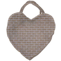 Brick1 White Marble & Sand Giant Heart Shaped Tote by trendistuff
