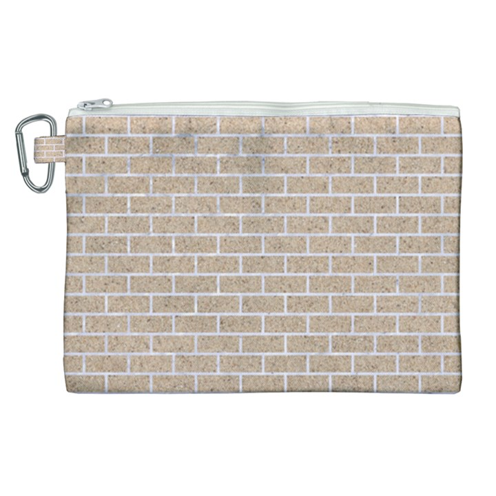 BRICK1 WHITE MARBLE & SAND Canvas Cosmetic Bag (XL)