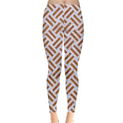WOVEN2 WHITE MARBLE & RUSTED METAL (R) Leggings