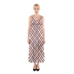 WOVEN2 WHITE MARBLE & RUSTED METAL (R) Sleeveless Maxi Dress