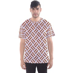WOVEN2 WHITE MARBLE & RUSTED METAL (R) Men s Sports Mesh Tee