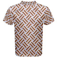 WOVEN2 WHITE MARBLE & RUSTED METAL (R) Men s Cotton Tee