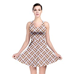 WOVEN2 WHITE MARBLE & RUSTED METAL (R) Reversible Skater Dress