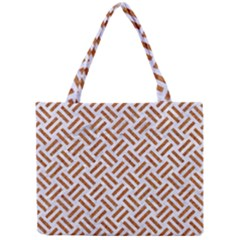 Woven2 White Marble & Rusted Metal (r) Mini Tote Bag by trendistuff