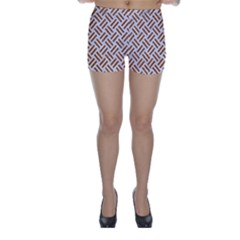 WOVEN2 WHITE MARBLE & RUSTED METAL (R) Skinny Shorts