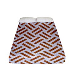 WOVEN2 WHITE MARBLE & RUSTED METAL (R) Fitted Sheet (Full/ Double Size)