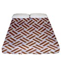 WOVEN2 WHITE MARBLE & RUSTED METAL (R) Fitted Sheet (Queen Size) View1