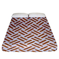 WOVEN2 WHITE MARBLE & RUSTED METAL (R) Fitted Sheet (King Size)