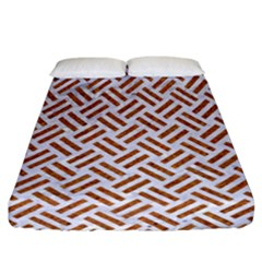 WOVEN2 WHITE MARBLE & RUSTED METAL (R) Fitted Sheet (California King Size)