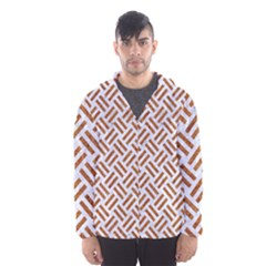 WOVEN2 WHITE MARBLE & RUSTED METAL (R) Hooded Wind Breaker (Men)
