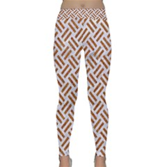 WOVEN2 WHITE MARBLE & RUSTED METAL (R) Classic Yoga Leggings