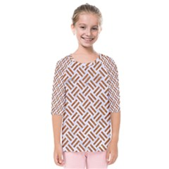 Woven2 White Marble & Rusted Metal (r) Kids  Quarter Sleeve Raglan Tee