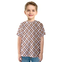 WOVEN2 WHITE MARBLE & RUSTED METAL (R) Kids  Sport Mesh Tee