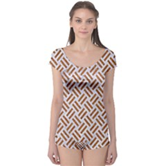 WOVEN2 WHITE MARBLE & RUSTED METAL (R) Boyleg Leotard