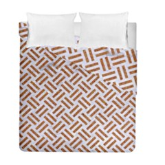WOVEN2 WHITE MARBLE & RUSTED METAL (R) Duvet Cover Double Side (Full/ Double Size)