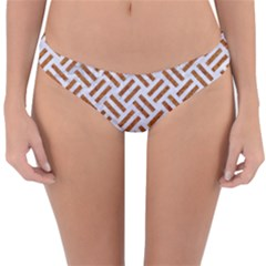WOVEN2 WHITE MARBLE & RUSTED METAL (R) Reversible Hipster Bikini Bottoms