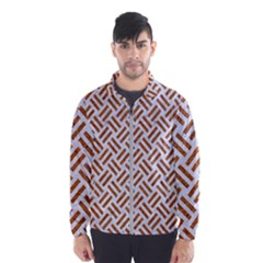 WOVEN2 WHITE MARBLE & RUSTED METAL (R) Wind Breaker (Men)