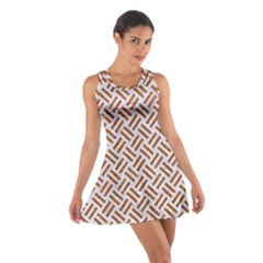 WOVEN2 WHITE MARBLE & RUSTED METAL (R) Cotton Racerback Dress