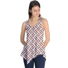 WOVEN2 WHITE MARBLE & RUSTED METAL (R) Sleeveless Tunic