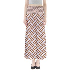 WOVEN2 WHITE MARBLE & RUSTED METAL (R) Full Length Maxi Skirt