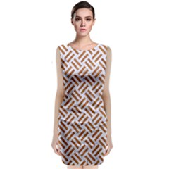 WOVEN2 WHITE MARBLE & RUSTED METAL (R) Classic Sleeveless Midi Dress