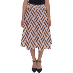 WOVEN2 WHITE MARBLE & RUSTED METAL (R) Perfect Length Midi Skirt