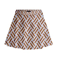 WOVEN2 WHITE MARBLE & RUSTED METAL (R) Mini Flare Skirt