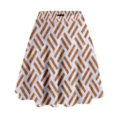 WOVEN2 WHITE MARBLE & RUSTED METAL (R) High Waist Skirt