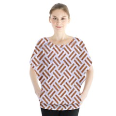 WOVEN2 WHITE MARBLE & RUSTED METAL (R) Blouse