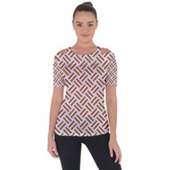 WOVEN2 WHITE MARBLE & RUSTED METAL (R) Short Sleeve Top